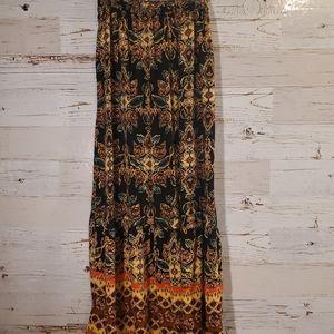 Xhilaration adorable printed maxi skirt